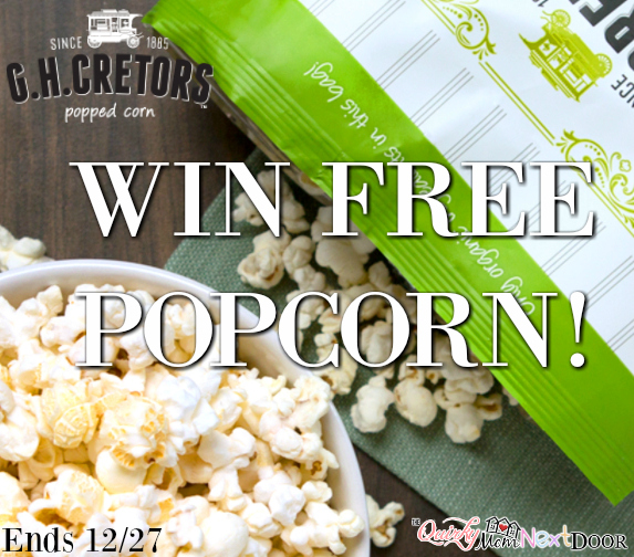 G.H. Cretors Popped Corn giveaway