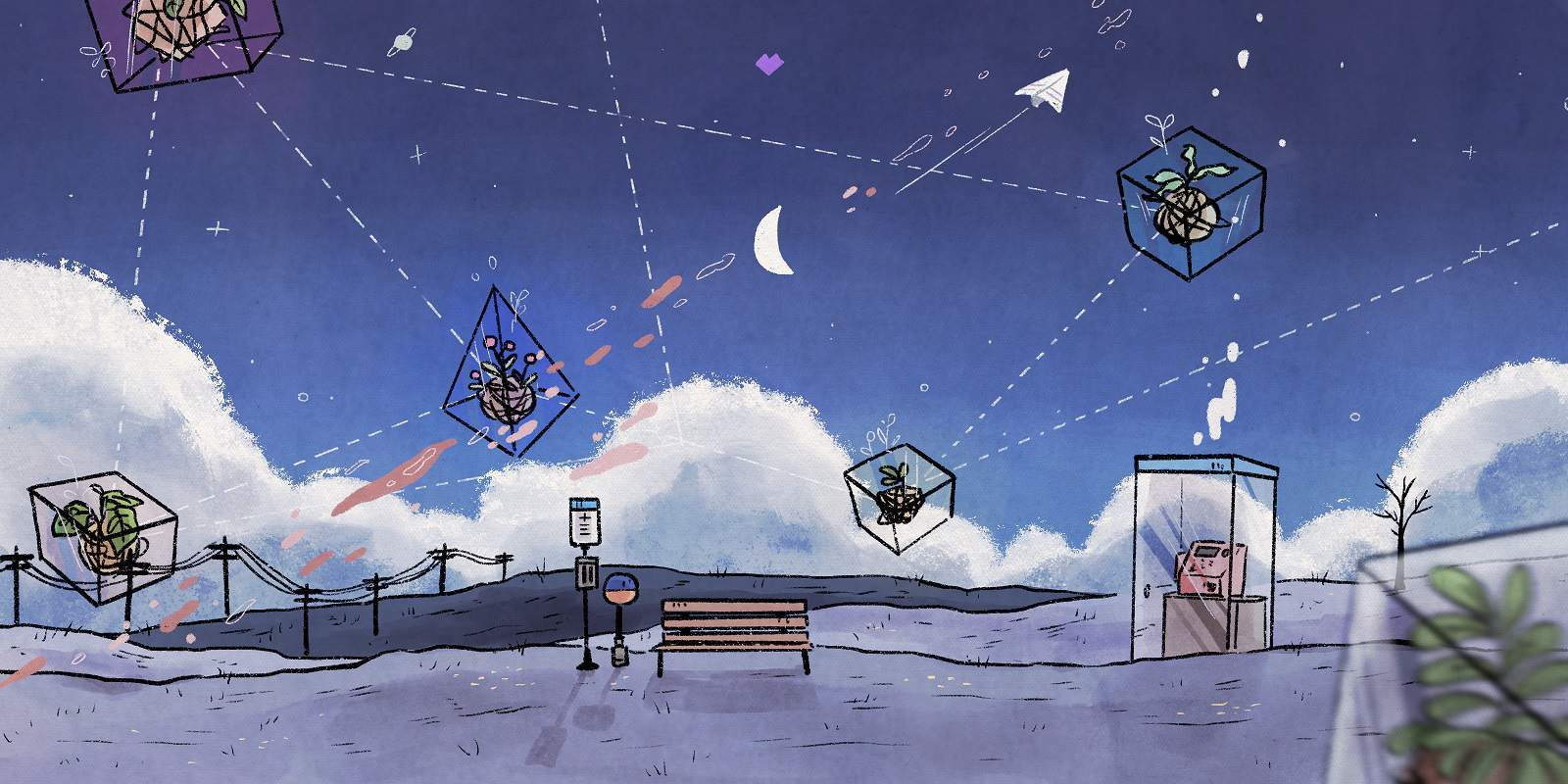 Illustration depicting the interconnection of BTS concepts in an outdoor setting