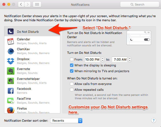 Use Do Not Disturb for Notifications on Mac 5