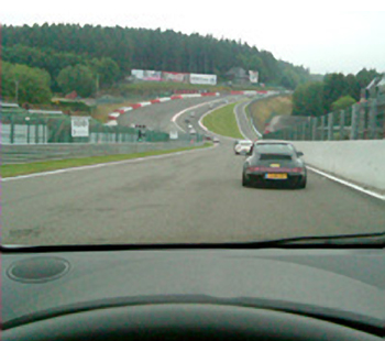 Into Eau Rouge at a track day at Spa