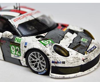 spark porsche 911rsr lm13 dirty models (porsche museum edition)