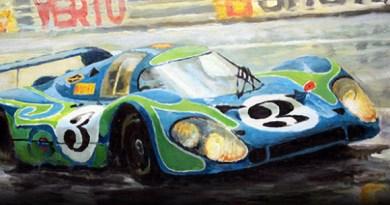 porsche 917L lemans art by yuriy shevchuk
