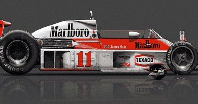 McLaren M23 after race, poster art by Last Corner