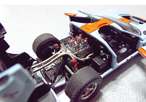jouef ford gt40 with opening features gulf racing models in 1:43 scale