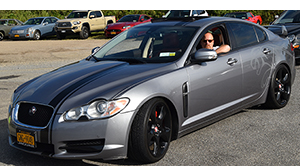 jaguar cars and coffee at oak beach