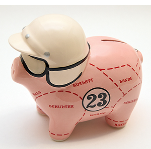 porsche museum pink piggy bank small size porsche pink pig