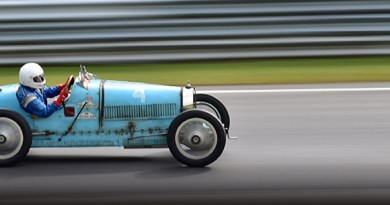 1925 bugatti t35 at the lime rock vintage festival 2018