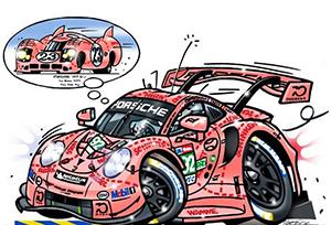 porsche 911 rsr motorsport art by roger warrick