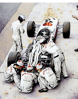 Pride And Passion motorsport art by Simon Owen