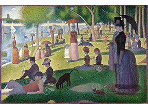 A Sunday on La Grande Jatte, by Georges Seurat 1884