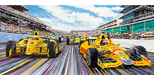 RHR wins Indy motorsport art by randy owens -indy cars