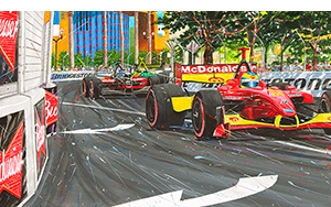 Tech_Museum motorsport art by randy owens -indy cars