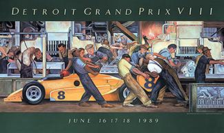 detroit grand prix 1989 poster