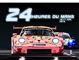 lemans pink poster2 by joel clark300