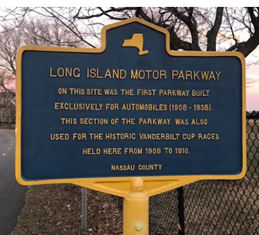 marker post on the long island motor parkway
