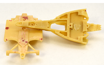 underside cleaned up MA Scale Target Dallara DW12 kit