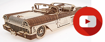 wood convertible mechanical models by UGears