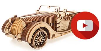 wood morgan mechanical models by UGears