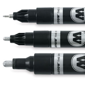 3 molotow chrome markers
