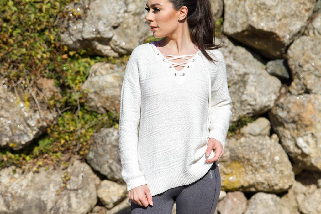 white sweater athleta