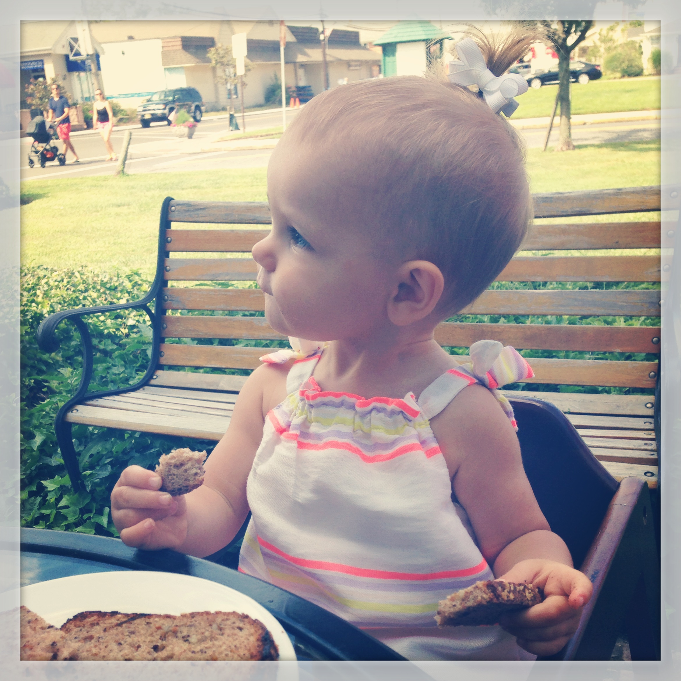 My monkey and her carbs.