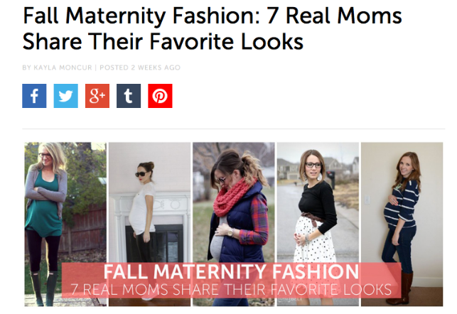 44a5a0dc02c Babble.com s Fall Maternity Fashion · babble · Stacy Igel s  Muse of the  Month  – Behind the Seams