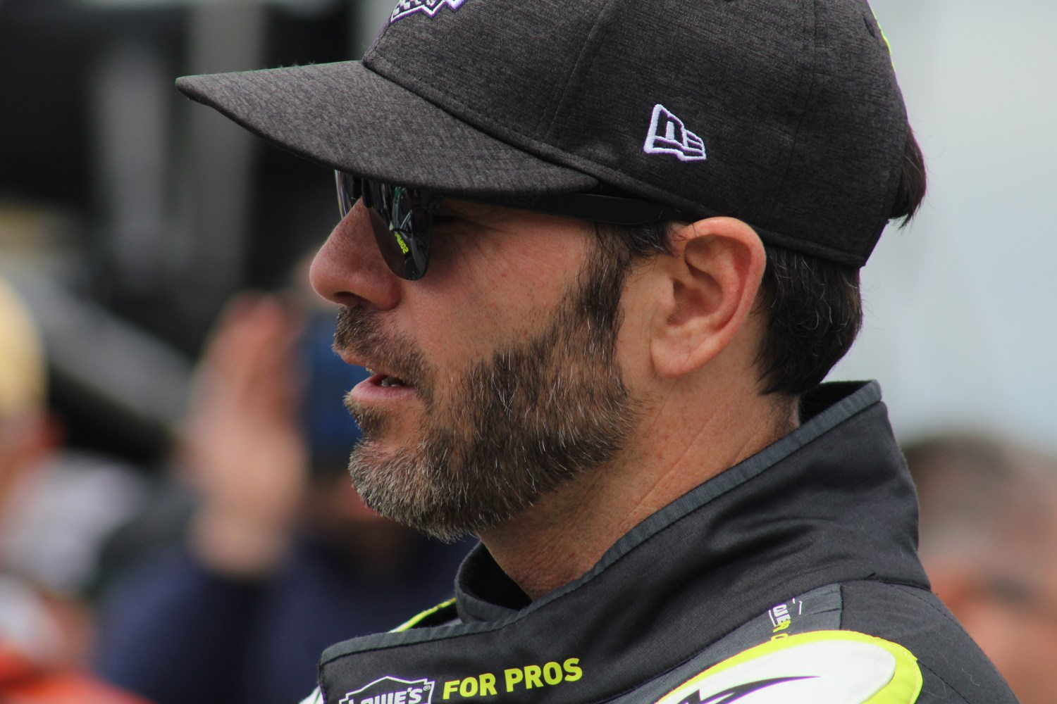 Jimmie Johnson on pit road ahead of the 2018 Pocono 400. (Tyler Head   The Racing Experts)