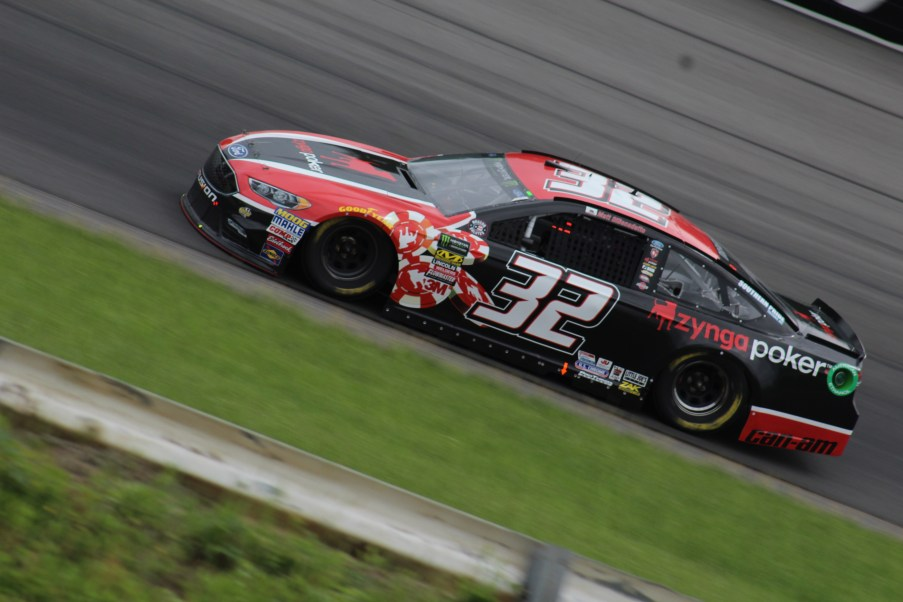 Matt DiBenedetto races during the 2018 Pocono 400. (Tyler Head | The Racing Experts)