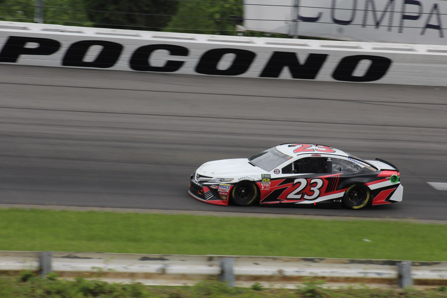 Gray Gaulding races during the 2018 Pocono 400. (Tyler Head | The Racing Experts)