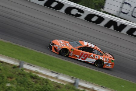 Daniel Suarez races during the 2018 Pocono 400. (Tyler Head | The Racing Experts)