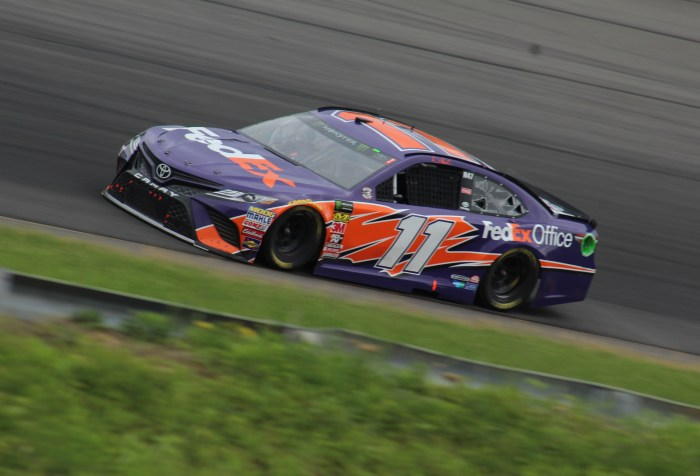 Denny Hamlin at Pocono in June 2018