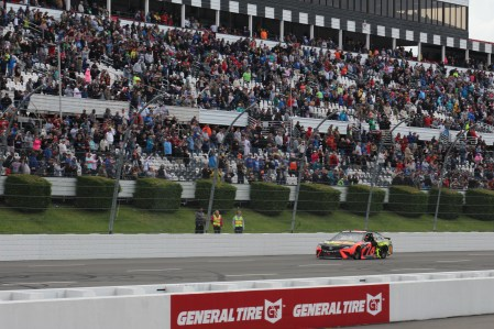 Truex passes by the grandstands