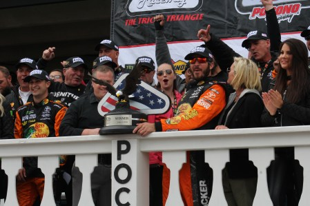 Truex celebrates Pocono win