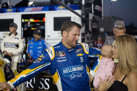 Dale Earnhardt Jr. spends time with his family prior to his lone NASCAR start in 2017. Photo: Austin McFadden | The Racing Experts