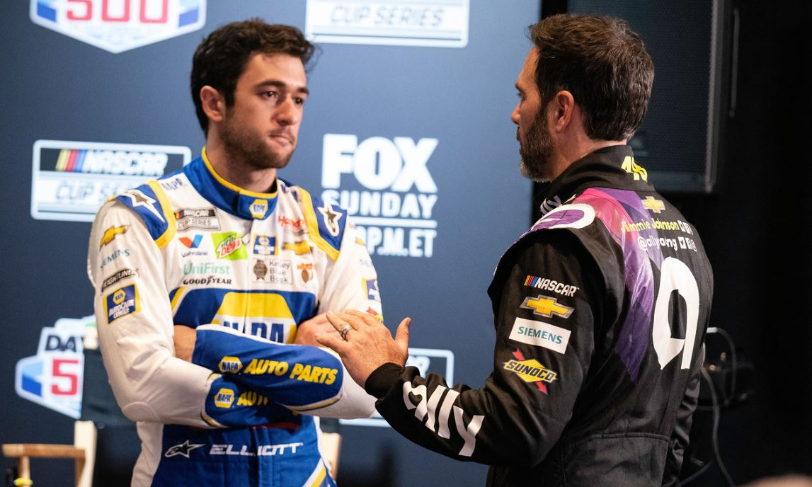 2020 Chase Elliott Jimmie Johnson