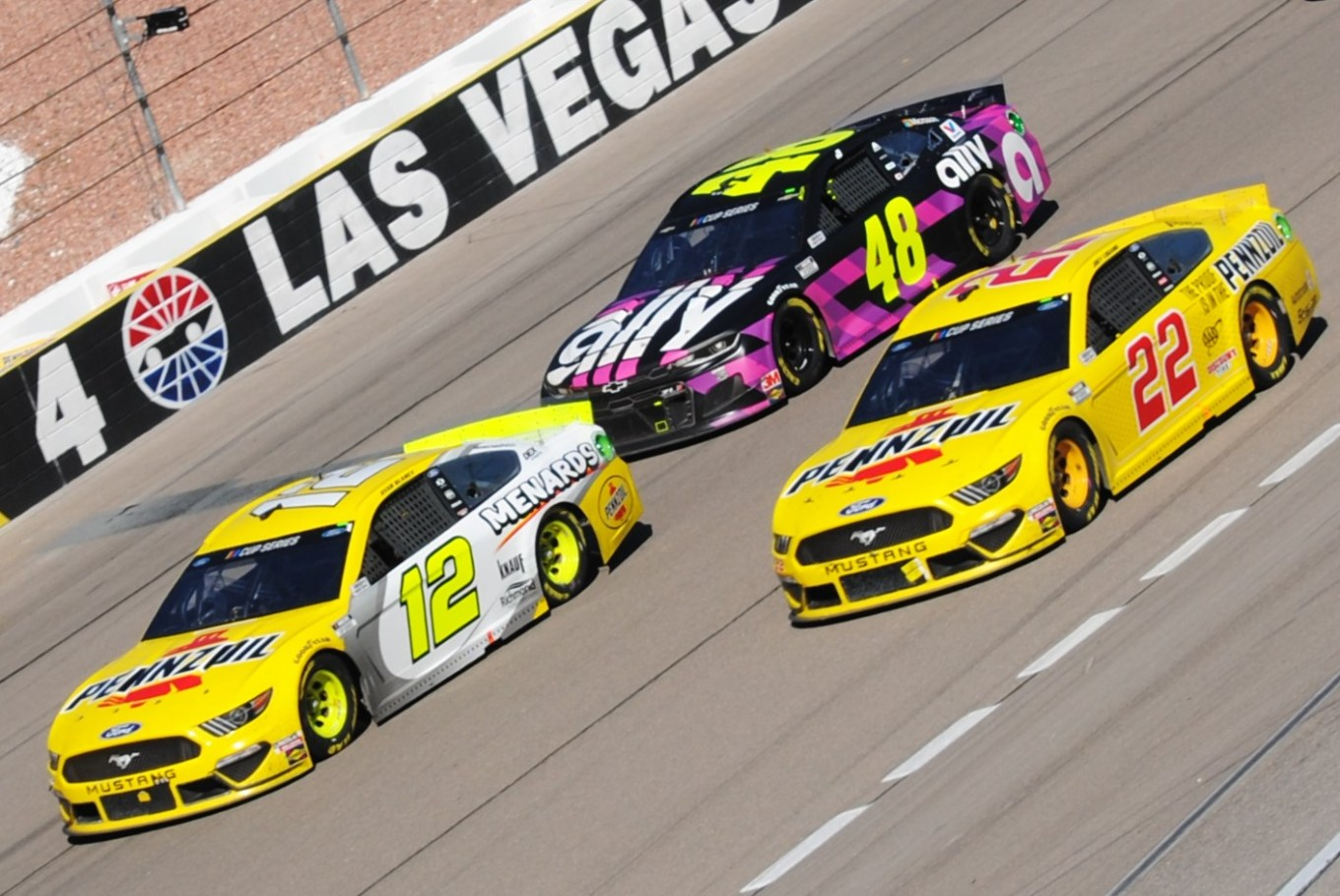 Chris Madrid Las Vegas I 2020 Blaney Logano Johnson