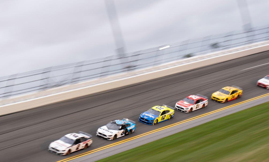 Daytona 500 practice Keselowski Newman Blaney DiBenedetto McDowell