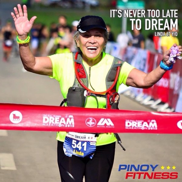 The 67-year old marathoner, Rosalinda Ogsimer