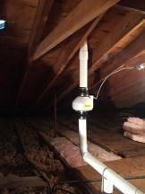 Radon Fan in Garage Attic_1