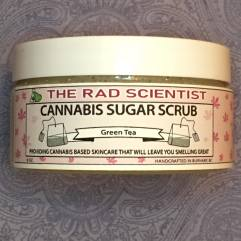green tea cannabis sugar scrub