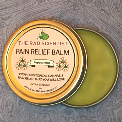 peppermint extra strength pain relief balm open