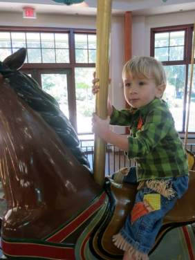 No trip to Pullen Park is complete without a ride on the carousel!