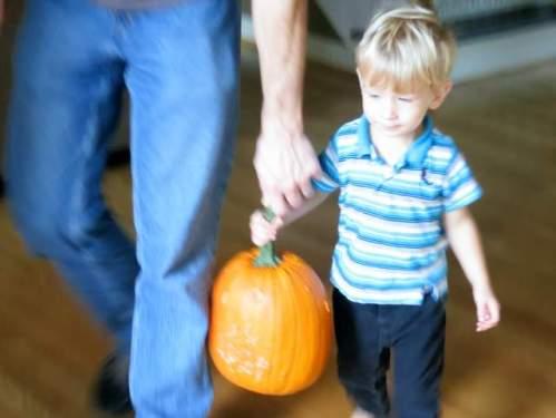 Pumpkins are still heavy!