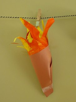 Olympic torch - mixed media.