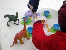 Dinosaur tea party!