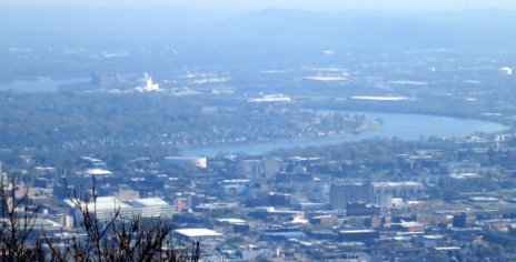 You can see Chattanooga and the Tennessee River!