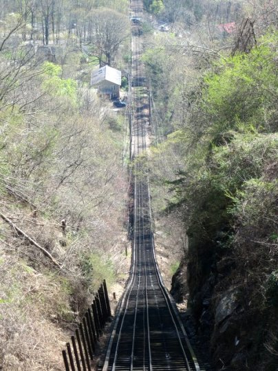 The Incline Railway is one of the steepest passenger trains in the world!