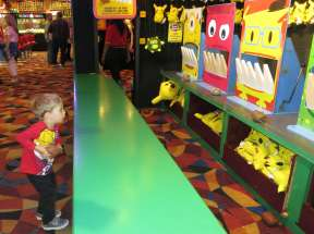 We ended our stay with a trip to Circus Circus, where I played lots of midway games.