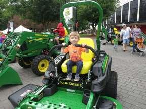I love driving tractors :).