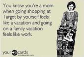 Mommy Vacation When Shopping